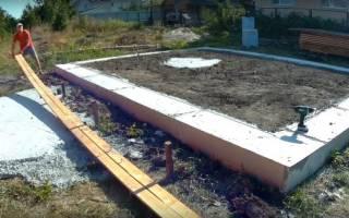 Как делать ленточный фундамент под дом?