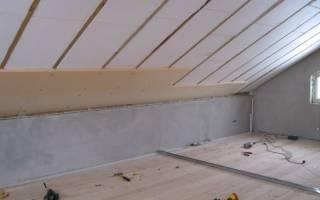 Как утеплить односкатную крышу?