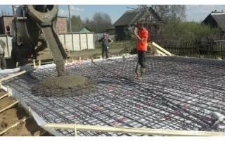Как правильно залить площадку бетоном под машину?