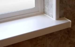 Как заменить подоконник у пластикового окна?