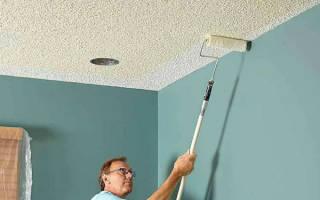 Какой водоэмульсионной краской лучше покрасить потолок?