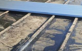 Как утеплить крышу гаража снаружи?