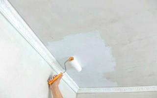 Как белить потолок мелом?