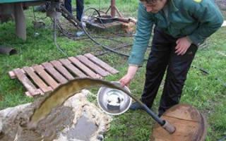 Как промыть скважину от песка после забивки?