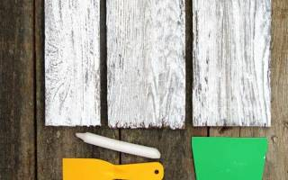 Как покрасить доски под старину?