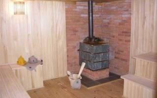 Как правильно установить металлическую печь в бане?