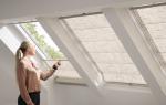 Как повесить шторы на мансардные окна?