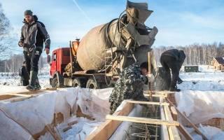 Как залить фундамент зимой своими руками?