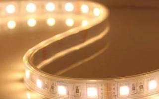 Как закрепить светодиодную ленту на стене?