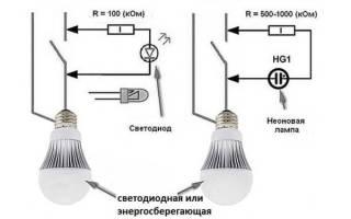 Моргает энергосберегающая лампа после выключения