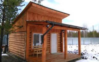 Как сделать односкатную крышу для бани?