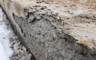 Крошится бетон что делать?