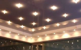 Как сделать точечный свет на потолке?