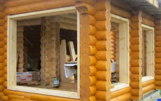 Как вставить окна в брусовом доме?