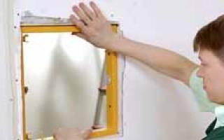 Как установить ревизионный люк в гипсокартоне?