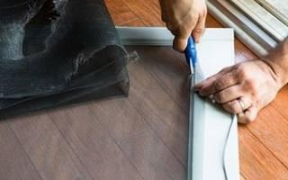 Как сделать москитную сетку на пластиковое окно?