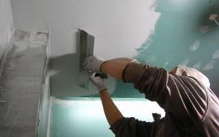 Как шпаклевать потолок под покраску?