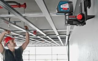 Как сделать каркас для гипсокартона на потолке?