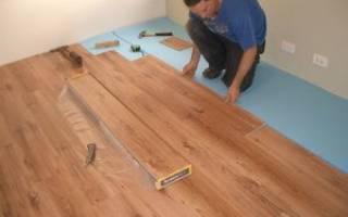 Как самому постелить ламинат на бетонный пол?