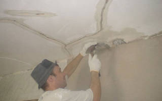 Ремонт потолка после протечки своими руками