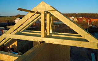 Как правильно крепить стропила двухскатной крыши?