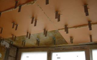 Как закрепить Утепление на потолке изнутри?