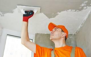 Как выровнять потолок под покраску?