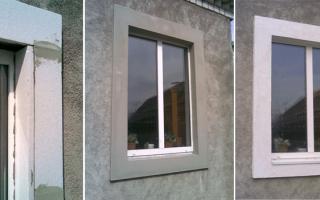 Как делать откосы на окнах из пенопласта?