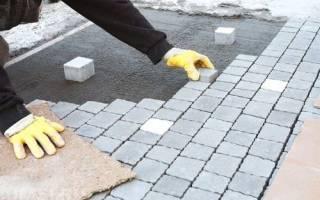 Можно ли класть тротуарную плитку на бетон?
