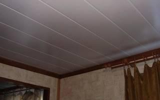 Как отделать потолок пластиковыми панелями?