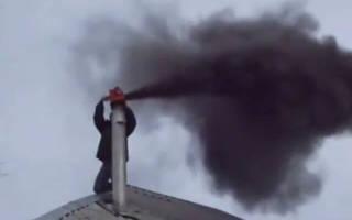Как почистить дымоход в бане?