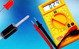 Как проверить светодиодную лампу мультиметром?