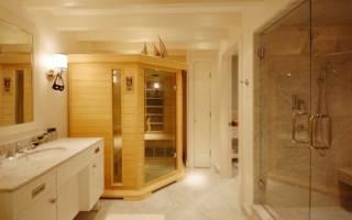 Как сделать баню в ванной комнате?