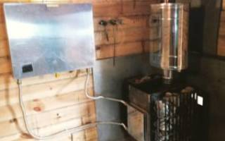 Как нагреть воду в бане от печи?