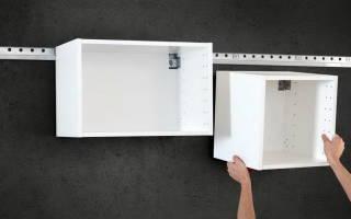 Как крепить навесные шкафы к гипсокартону?