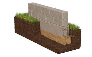 Как сделать фундамент из фундаментных блоков?