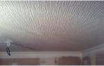 Как клеить рогожку на потолок?