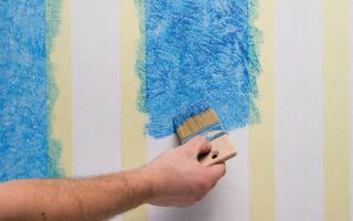 Как покрасить обои под покраску без разводов?