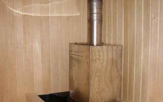 Как установить трубу в бане через потолок?