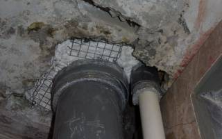 Как заделать дырку в потолке из бетона?