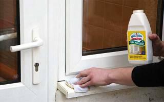 Как отбелить подоконник пластикового окна?