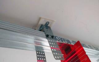 Как крепить подвесы для профиля к потолку?