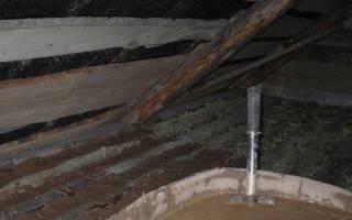 Глина с опилками как Утепление на потолок?