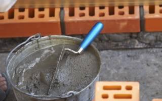 Как приготовить цементный раствор для кладки кирпича?