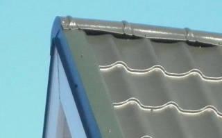 Как крепить конек на металлочерепицу?