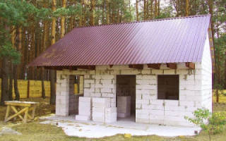 Можно ли построить баню из газобетона?