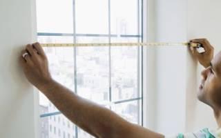Как рассчитать размер пластикового окна по проему?