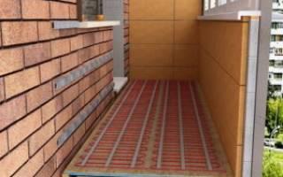Как утеплить пол на балконе под плитку?