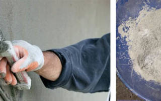 Как сделать раствор для штукатурки из цемента?