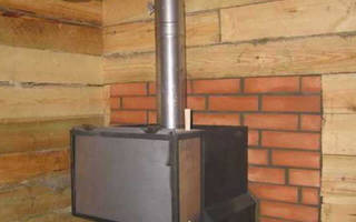 Как правильно установить железную печь в баню?